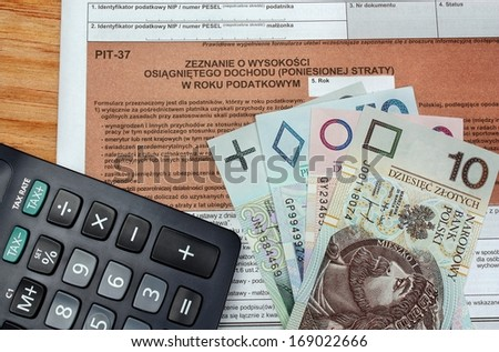 Money advance return for polish tax