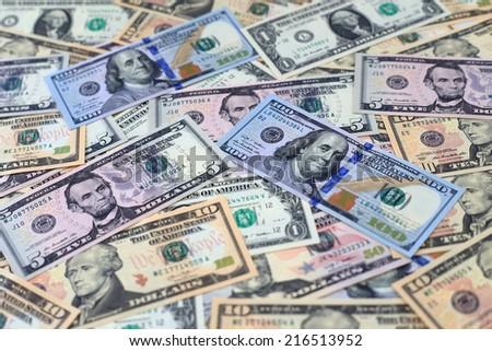 Money American dollar bills - stock photo