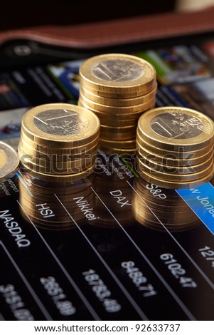 money and chart - stock photo