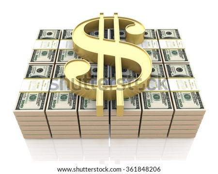 money and dollar sign in the design of information related to business and finance - stock photo