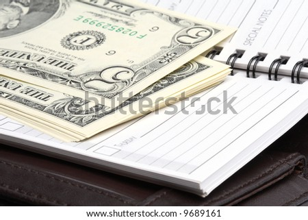 Money and notebook