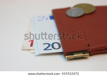 money and wallet - stock photo