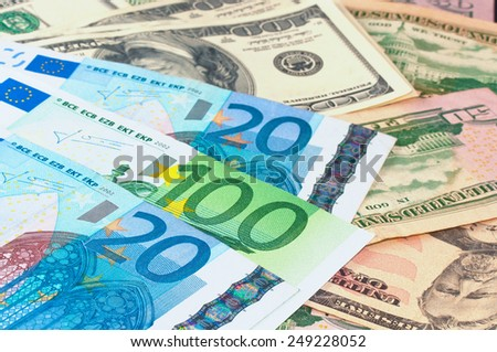 money as a background  - stock photo