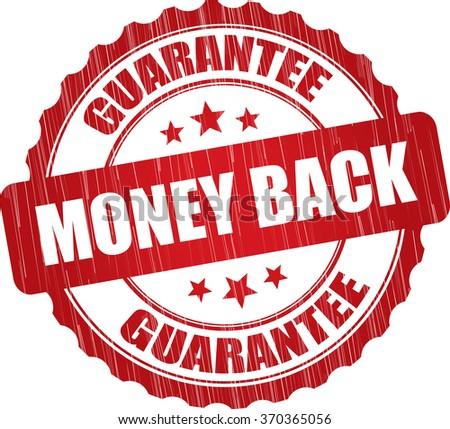 Money back guarantee grunge rubber stamp. - stock photo