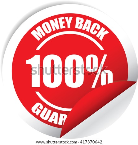 Money back Guarantee Red Label, Sticker, Tag, Sign And Icon Banner Business Concept, Design Modern. - stock photo