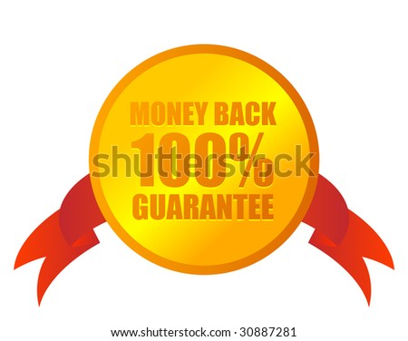 money back medal on white
