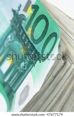 Money background - European Euro background. Close up photo with shallow DOF and space for your text - stock photo