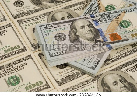 money background from dollars usa. financial concept - stock photo