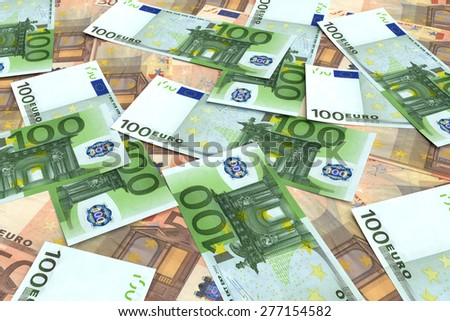 Money background from many Euro. Business concepts - stock photo
