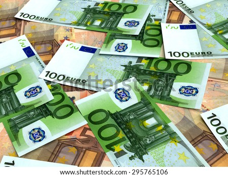 Money background from many Euro. Business concepts