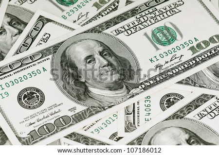 Money background, heap of dollars, financial concept of earnings - stock photo