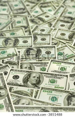 Money background - hundred dollars greenback - stock photo