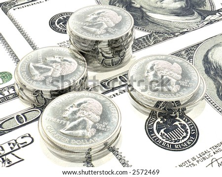 Money background (see more in my portfolio) - stock photo