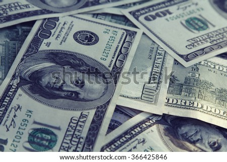 Money Background with american hundred dollar bills . Business concept - stock photo