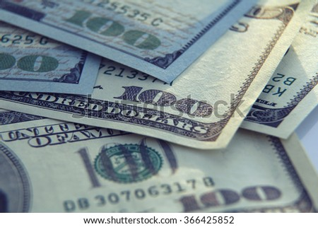 Money Background with american hundred dollar bills . Business concept
