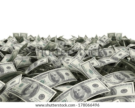 15102050100 dollar bills on ground stock illustration