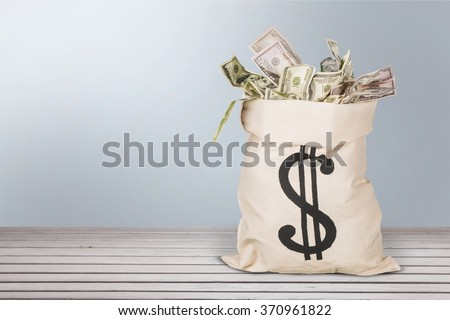 Money Bag. - stock photo