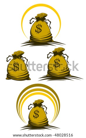 Money bag symbols variations for design and decorate or template. Vector version is also available  - stock photo