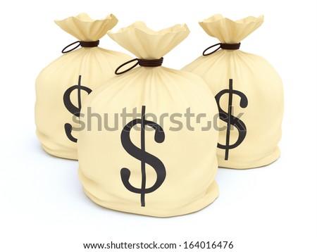 Money Bags - stock photo