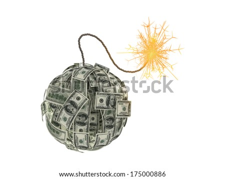 Money bomb - stock photo