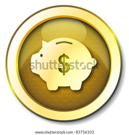 Money box dollar icon - stock photo