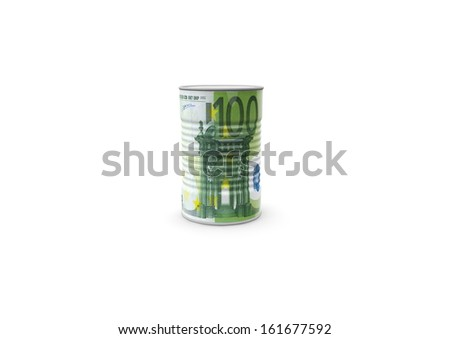 money can with 100 euro textur - stock photo