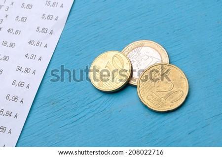 money check - stock photo
