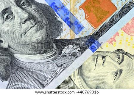 Money close-up. dollars - stock photo