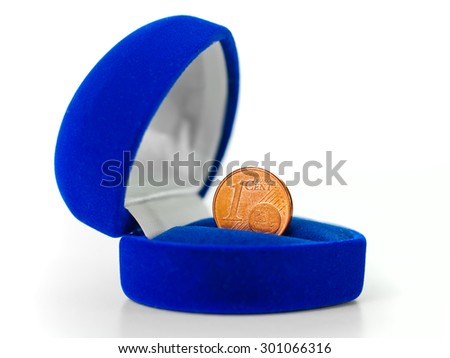 Money, coins - Euro cent on a white background  - stock photo