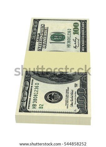 Money concept - several dollars banknotes isolated on white