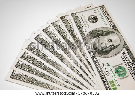 Money Currency Dollar - $ 100 as background