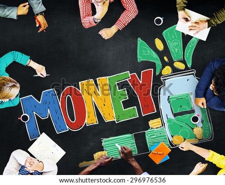 Money Currency Economy Banking Saving Concept - stock photo