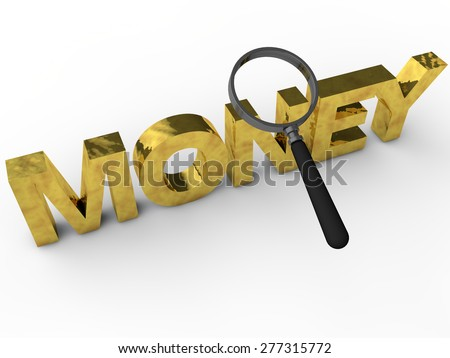 Money - 3D Text over white Background - stock photo