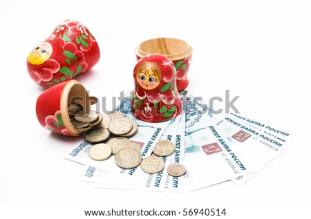 money deposited in non-traditional way - stock photo