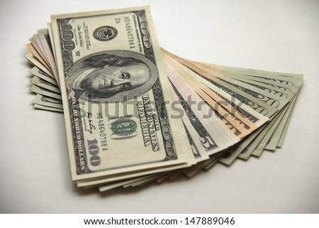 Money. Dollars. - stock photo