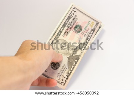 money dollars on background and selective focus,out focus. - stock photo