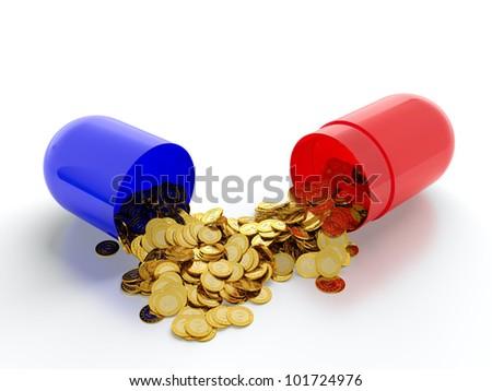 Money drugs - stock photo