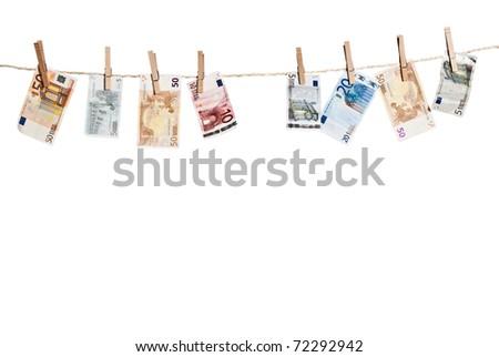 Money (euro) hanging - stock photo