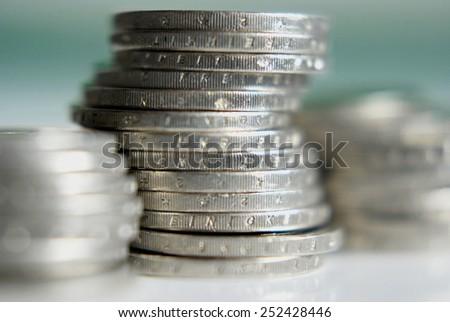 money, Euros - stock photo