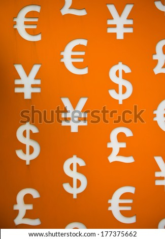 money exchanger for various currencies.