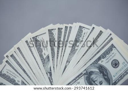 money fan - stock photo