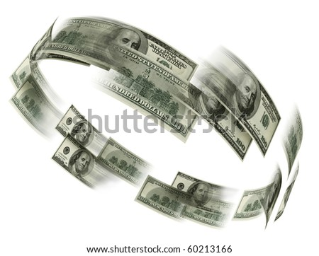 money flaying - stock photo