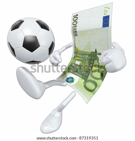 Money Football Soccer - stock photo