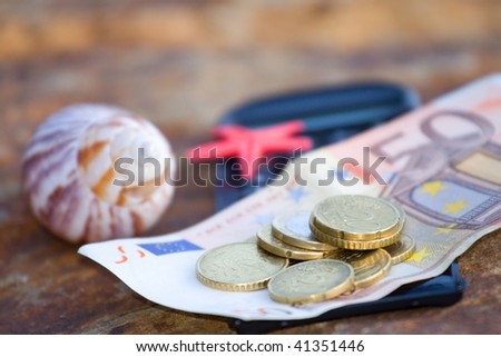 money for holiday 5 - stock photo