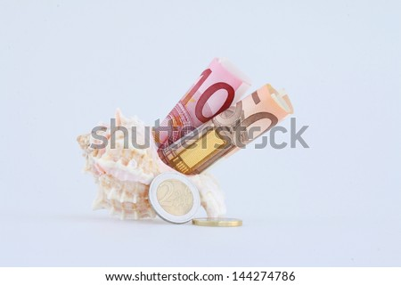 money for holidays - stock photo