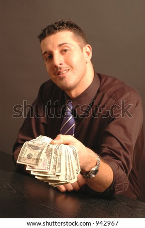 money for you focus on the cash face soft model released - stock photo
