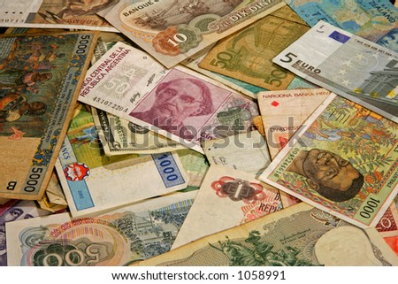 Money from different countries - stock photo