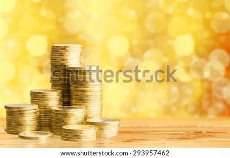 Money, gold, casino. - stock photo