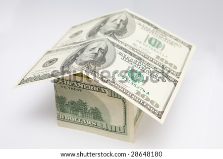 Money house, 100 american dollars