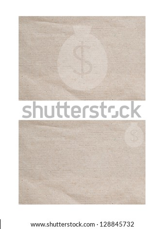 Money icon on paper background and textured